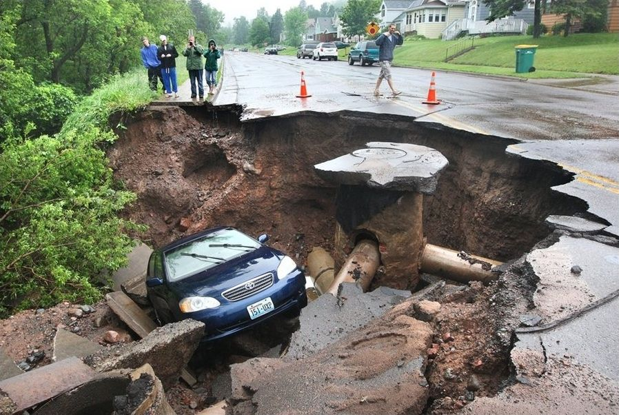 Heavy Rains Cause Flooding in Minnesota