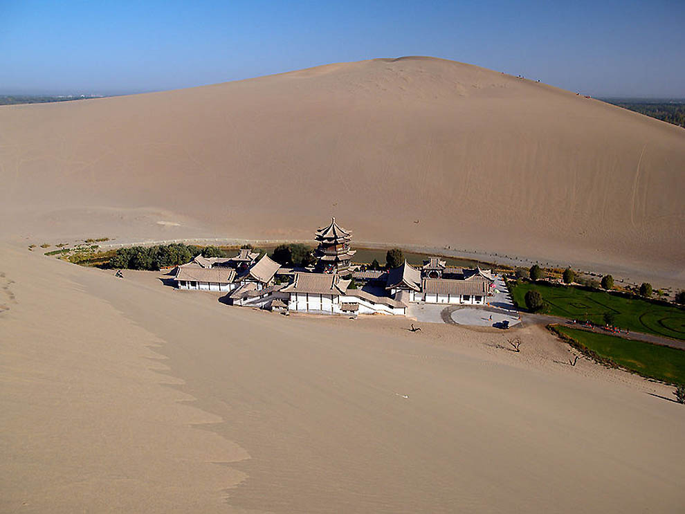 Chinese oasis in the desert