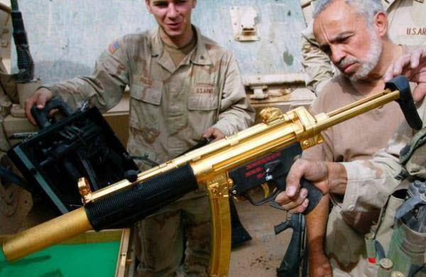 Gold Weapons of the Saddam Hussein