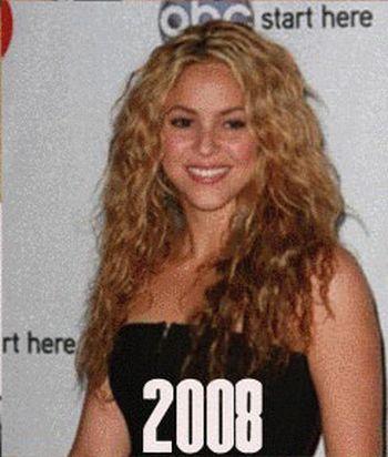 Shakira's Aging Timeline