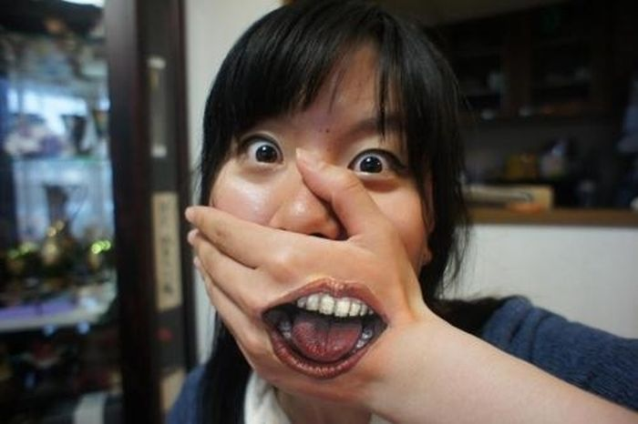 Creepy Face Paintings