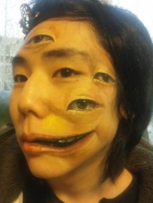 Creepy Face Paintings