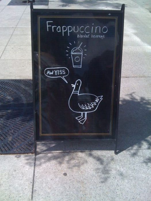 Awesome Chalkboard Signs