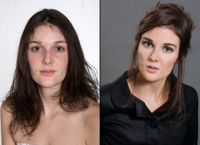 Girls With and Without Makeup, part 2