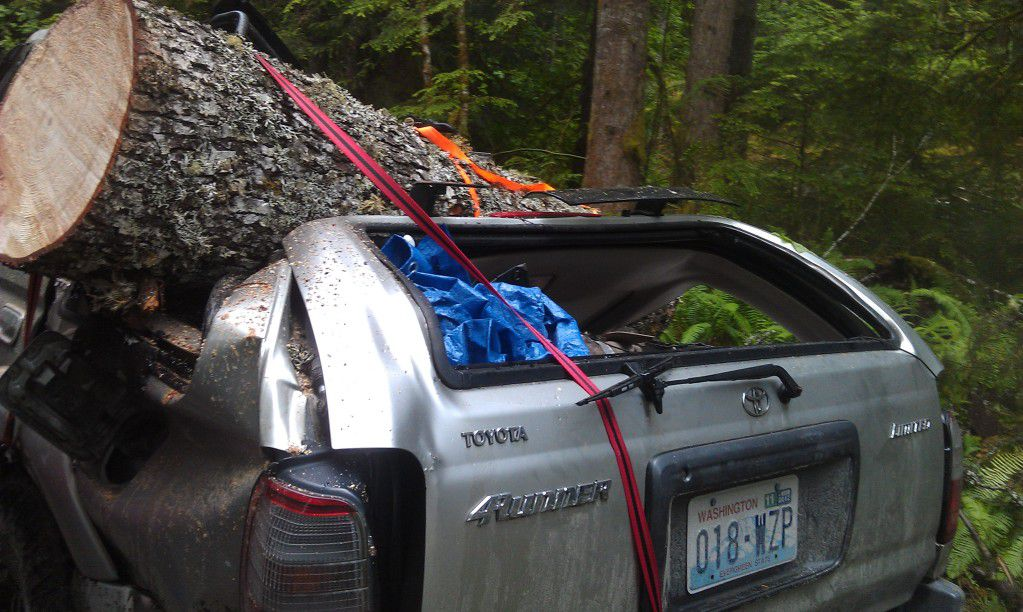 Couple's Truck Crunched By Nature