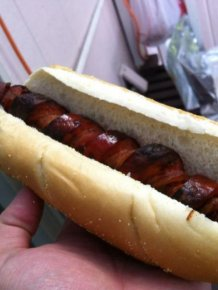 Bacon Spiral Hot Dogs