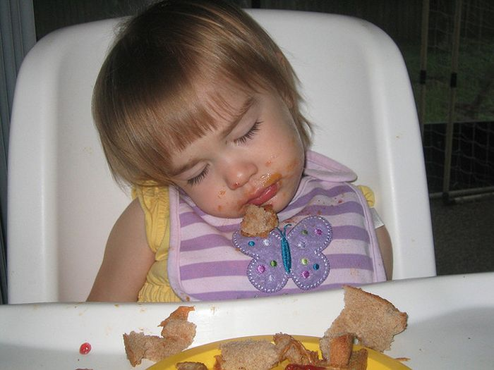 Kids Falling Asleep While Eating