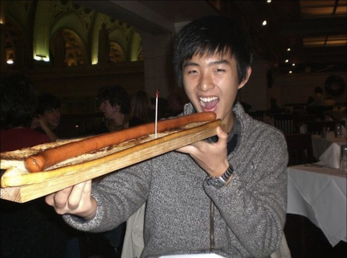 People Consuming Large Things