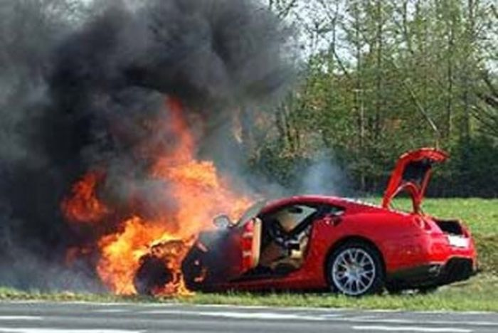 Sport Cars On Fire Vehicles