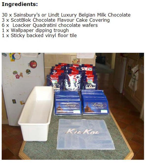 DIY Gigantic Kit Kat