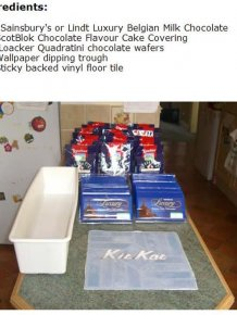 DIY Gigantic Kit Kat