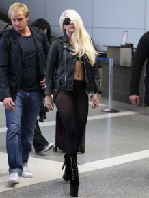Lady Gaga Landed in LAX