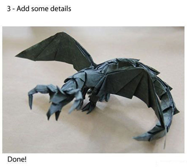 How to Make an Origami Dragon in 3 Simple Steps