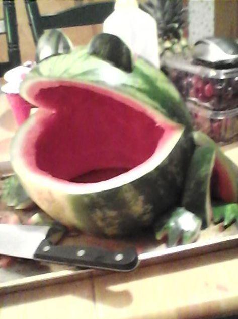 DIY Watermelon Frog Bowl