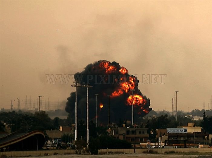 Libyan Jet Crashes after Being Shot Down in Benghazi