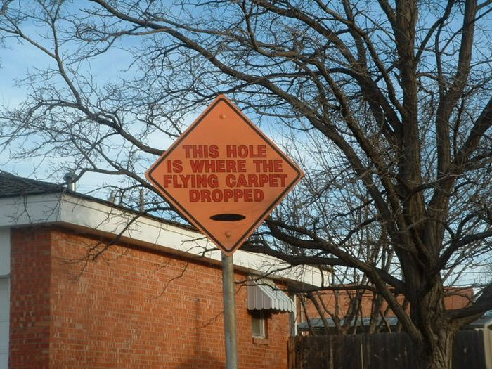 Signs by Stanley Marsh in Amarillo, Texas