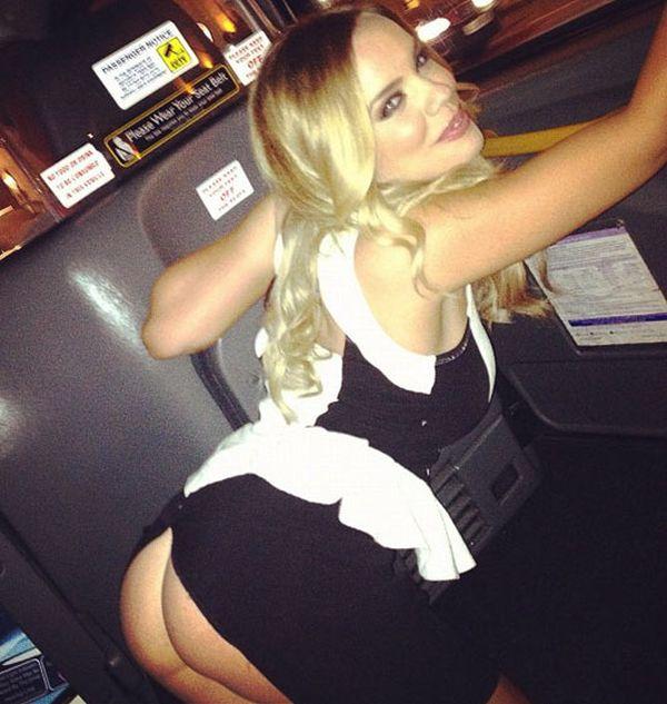 Maria Fowler Skirt Malfunction