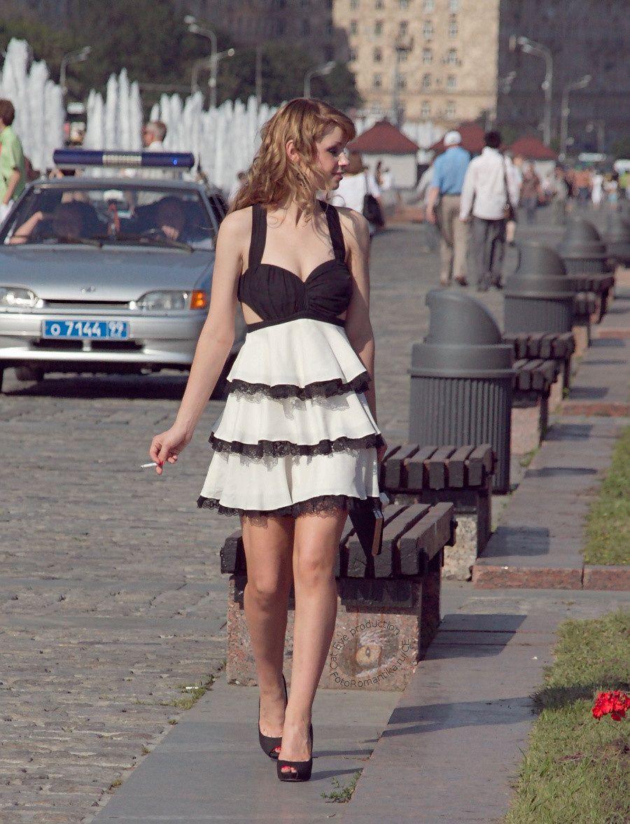Русскую женщину на улице 4 фотография
