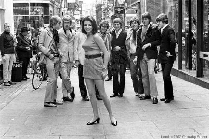 Miniskirts in 60s and 70s