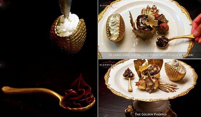 Golden Phoenix Cupcake