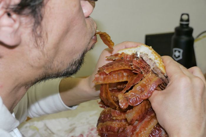 Burger with 1,050 Bacon Strips