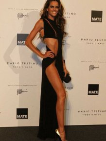 Izabel Goulart all dressed up