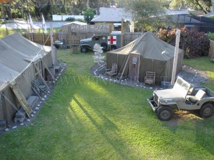Mash in backyard