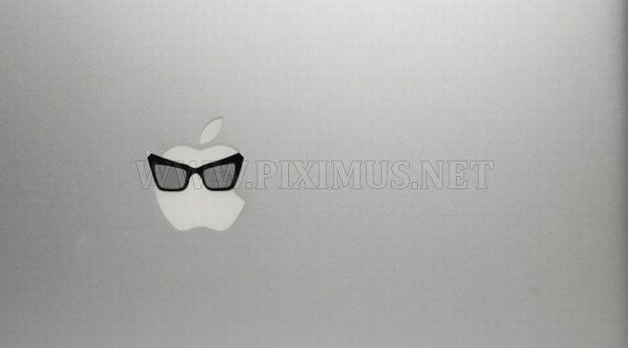 Apple Logos Wearing Glasses