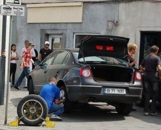 Wheel Lock is Not a Problem for This Guy