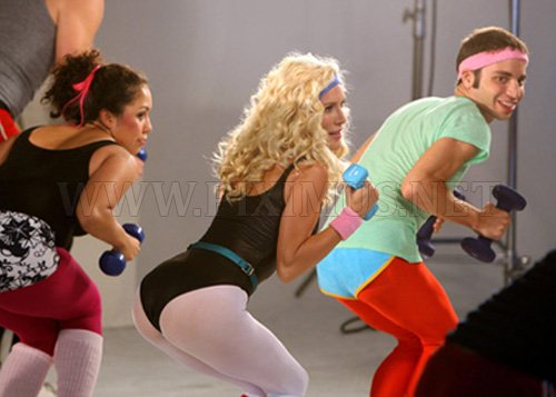 Girls Wearing 80′s Workout Spandex