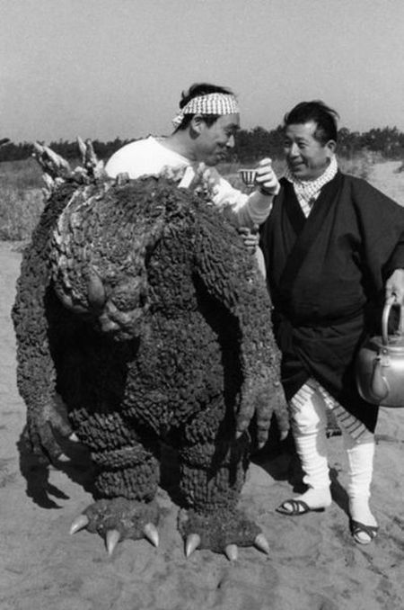 On the Set of Godzilla in 1954