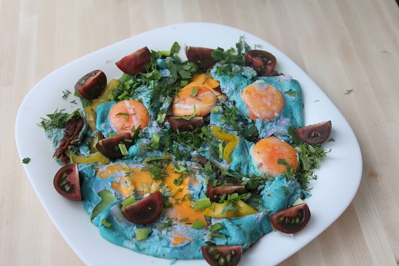 Blue Scrambled Eggs