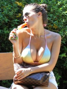 Imogen Thomas' guge boobs