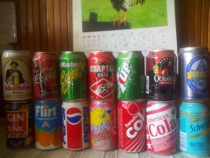Collection of Cans from the 80s-90s