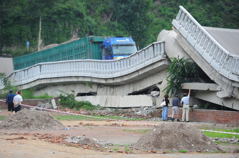 Overloaded Truck Causes Bridge Collapse In China Others