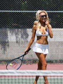 Famous Girls in White Bikinis