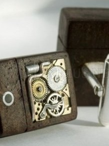 Cool Steampunk USB Cufflinks