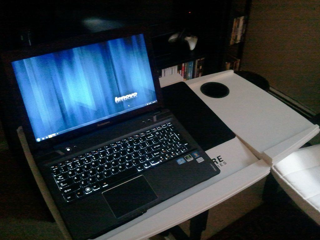 custom made laptop table inspired by portal game others. Black Bedroom Furniture Sets. Home Design Ideas