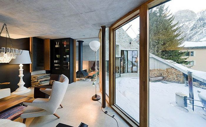 House Built Inside a Mountain in Swiss Alps