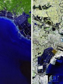 Satellite photos show how the man changed the Earth