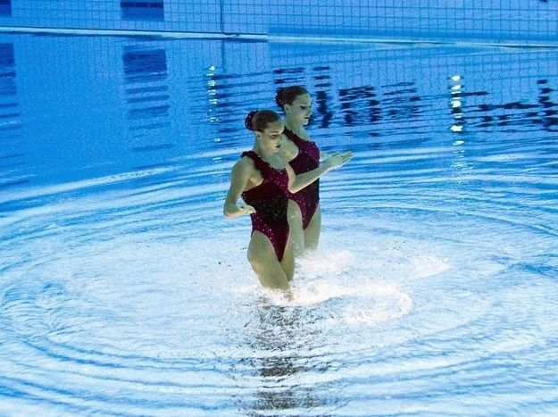 Syncronized Swimming Seen from a Fresh Angle