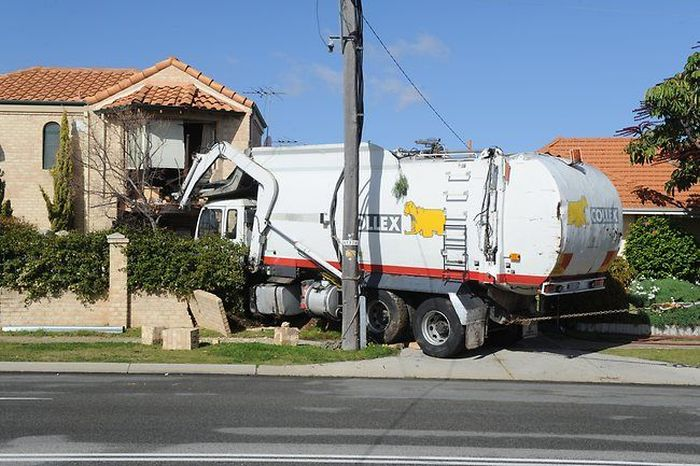 Garbage Truck Trashes House In Australia Vehicles