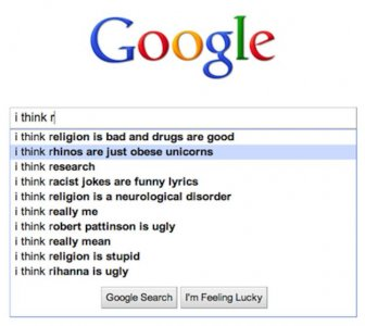 Strange Google Search Suggestions