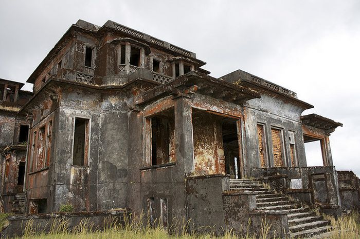 Bokor Hill Station. Abandoned Town in Cambodia