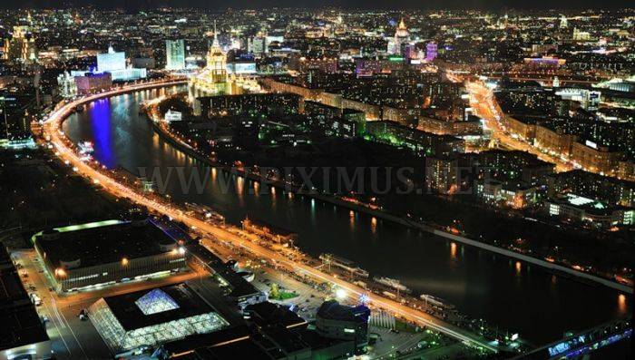 Moscow from sky