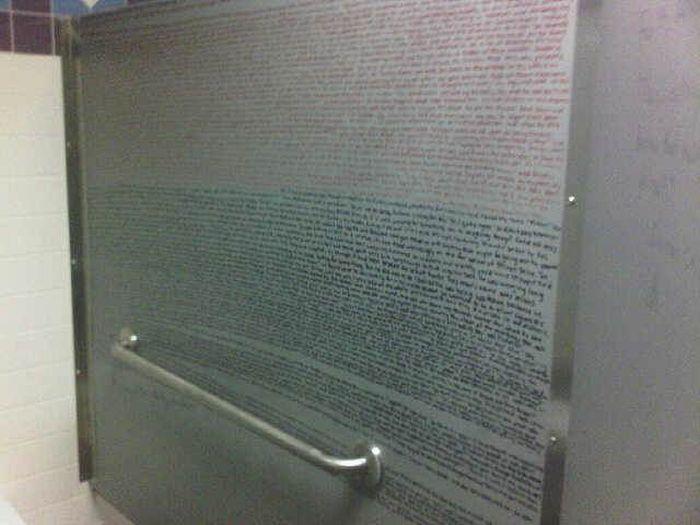 Bathroom Stall Wisdom Bathroom Graffiti Wisdom | Fun