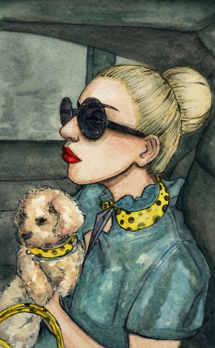 Lady Gaga and Her New Dog Fozzi