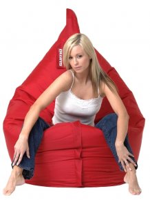 Girls on Sumo Bean Bag Chairs
