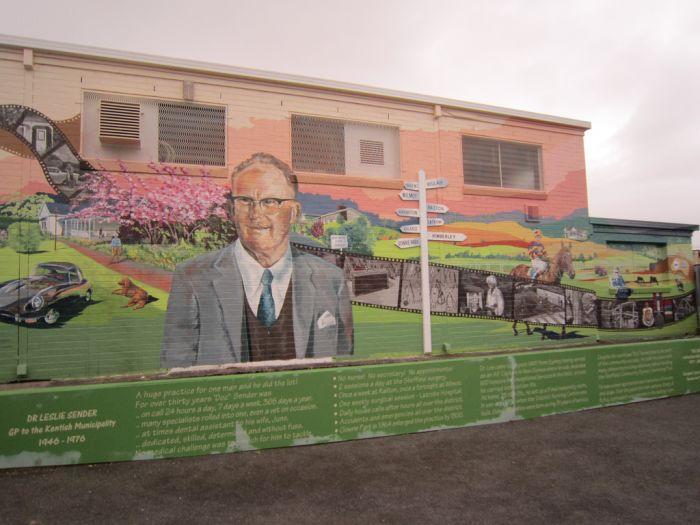 Wall Art in the Tasmanian City of Sheffield