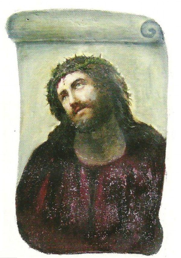Restoration of Jesus Fresco Fail